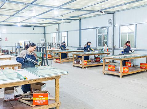 复合防火玻璃工段